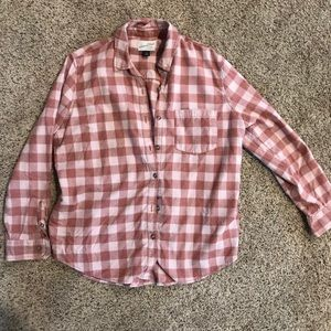 EUC Women's Plaid Button Up